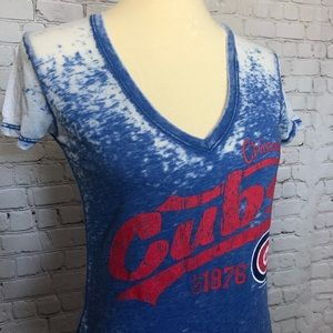Tops - Chicago Cubs Burnout Tee